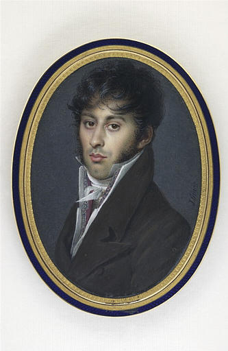 GUERIN Jean Urbain : Portrait présumé du comte Alphonse de Perrégaux