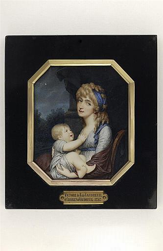 HENARD Charles : Victoire de Vaudreuil et son fils Charles