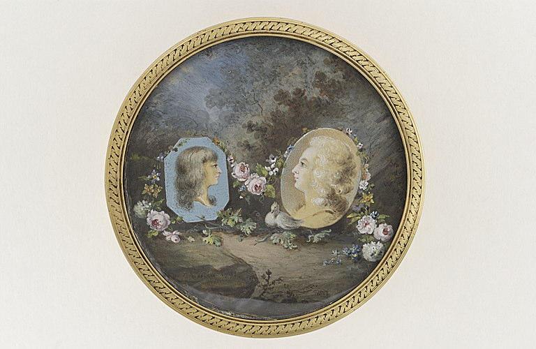 HOIN Claude Jean-Baptiste : Portrait de Madame Elisabeth et du Dauphin