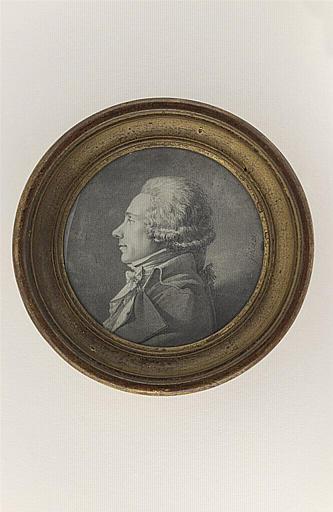 Portrait d'un inconnu, vu en buste, de profil à gauche