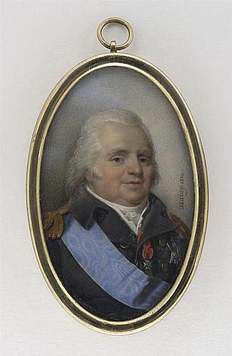 Portrait de Louis XVIII en uniforme avec le grand cordon du Saint-Esprit