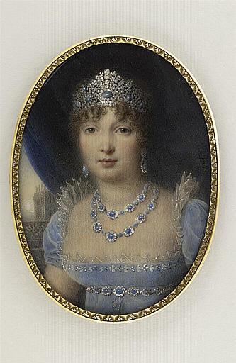 ISABEY Jean-Baptiste : Portrait de Caroline Murat, en grand costume de cour