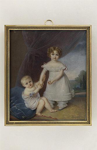 JACQUES Nicolas : Portrait du comte de Chambord et de sa soeur, enfants