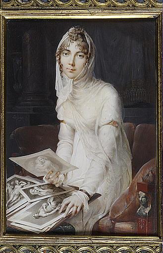 LE GUAY Charles Etienne : Portrait de Marie Victoire Jaquotot, assise sur un divan