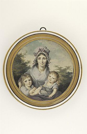 LETELLIER Jean-Baptiste Joseph : Une mère et ses deux enfants