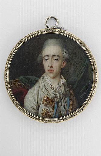 MASSE Jean-Baptiste : Portrait d'homme vêtu d'un habit gris-vert
