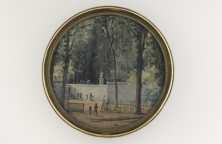 MOREAU Louis Gabriel l'Aîné : Le parc de Saint-Cloud