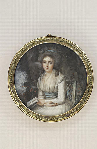 PERIN-SALBREUX Lié Louis : Portrait présumé de Madame de Cazotte