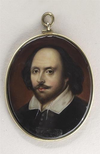 BAILEY John William : Portrait d'homme en vêtement noir à col blanc