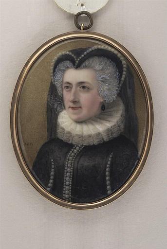 BIRCH William Russel : Portrait de Mrs F. F. en Marie Stuart