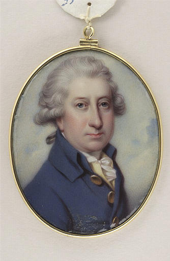 BONE Henry Pierce, COSWAY Richard (inspiré par) : Portrait du Marquis Arthur de Donegall, en buste
