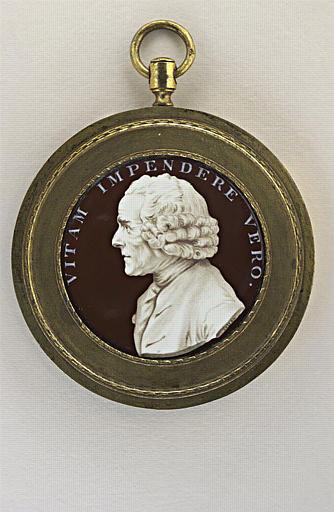 COTEAU Jean : Portrait de Jean Jacques Rousseau, en buste
