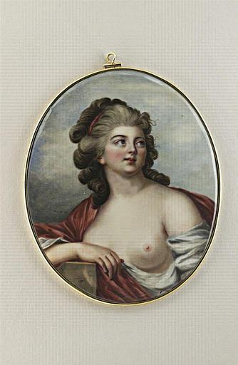 DULIEU DE CHENEVOUX Louis Marie : Portrait de jeune femme au sein nu