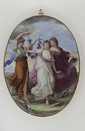 HURTER Johann Heinrich Von : La Jeunesse repousse le Plaisir pour suivre la Vertu