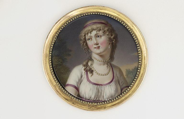 MAILLY Barnabé Augustin de : Portrait de jeune femme