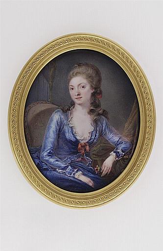 Portrait de la femme de l'artiste, assise dans un fauteuil