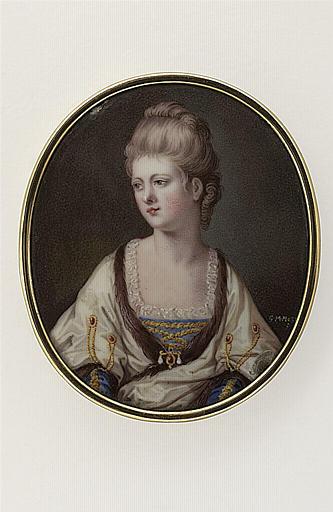 Jeune femme, en corsage bleu et manteau blanc_0