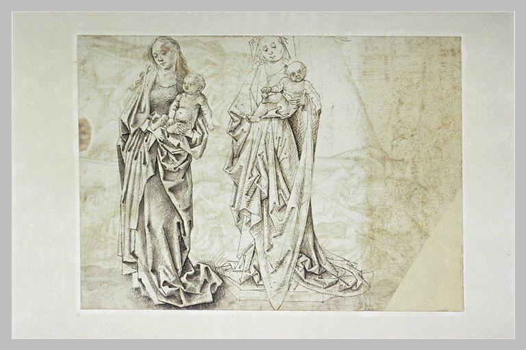 Deux études de Vierge à l'Enfant