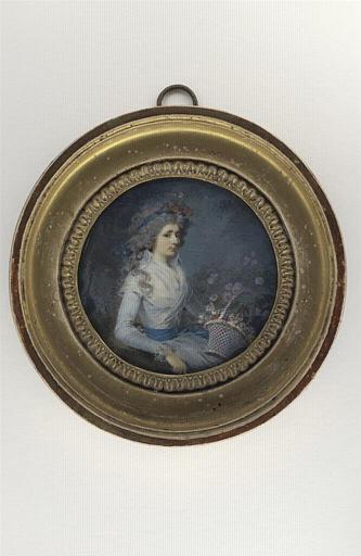 GUERIN Jean Urbain (attribué à) : Portrait de jeune femme assise