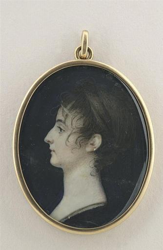 BOURGEOIS Charles Guillaume Alexandre : Portrait de jeune femme