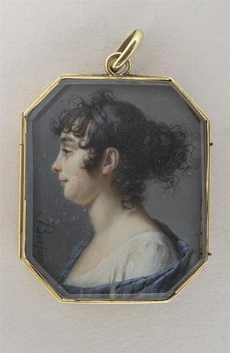BERJON Antoine : Portrait de femme, en buste