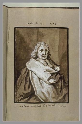 OUDRY Jean-Baptiste : Portrait de monsieur Moyllet, théologal de Troyes