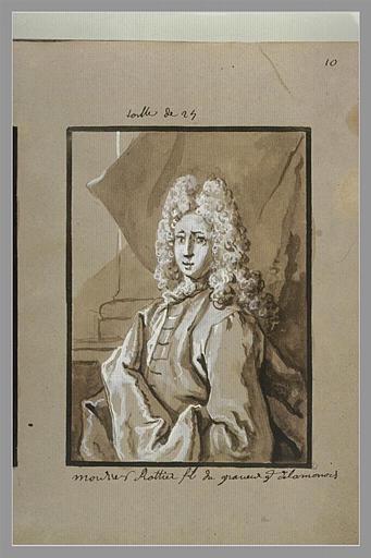 OUDRY Jean-Baptiste : Portrait de Joseph-Charles Roettiers, fils du graveur de la monnaie