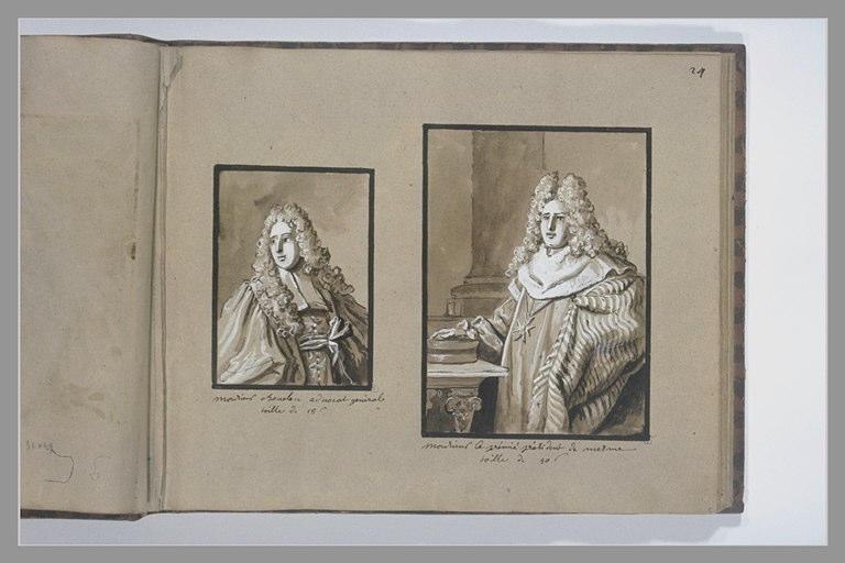 OUDRY Jean-Baptiste : Portrait du président de Mesmes