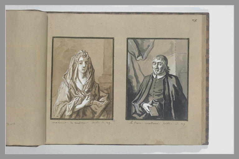 OUDRY Jean-Baptiste : Portrait de madame de Mesmes