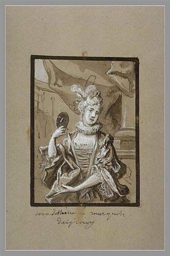 OUDRY Jean-Baptiste : Portrait de la marquise d'Espinoy