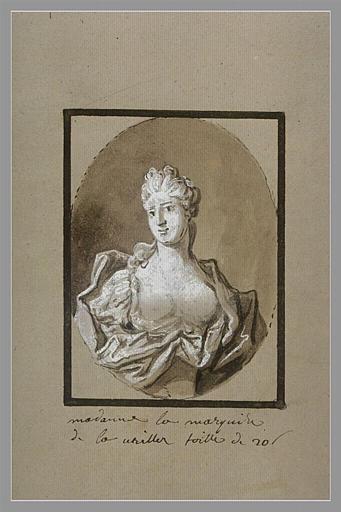 OUDRY Jean-Baptiste : Portrait de la marquise de la Vrillière