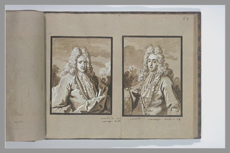 OUDRY Jean-Baptiste : Portrait de monsieur Ménage