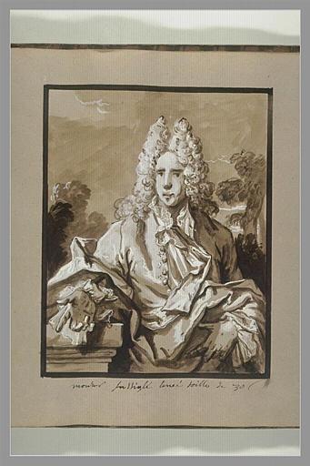 OUDRY Jean-Baptiste : Portrait de monsieur Fuselier l'aîné