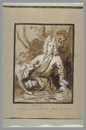 OUDRY Jean-Baptiste : Portrait d'Octave-Alexandre de Nédonchelles, en chasseur