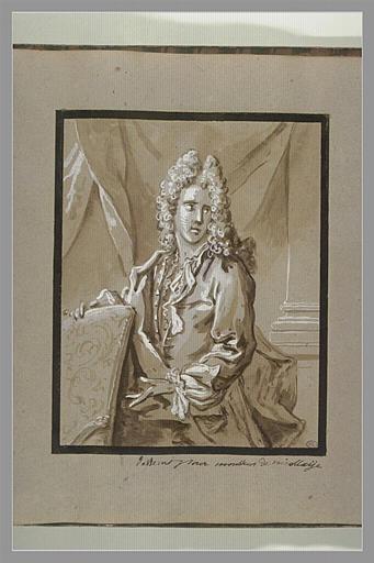 OUDRY Jean-Baptiste : Portrait d'Antoine-Nicolas de Nicola
