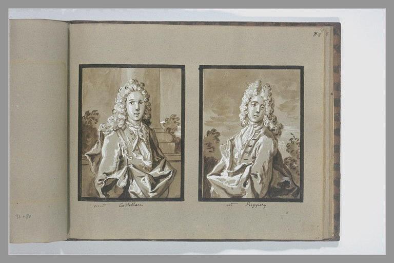 OUDRY Jean-Baptiste : Portrait de monsieur Ruggieri