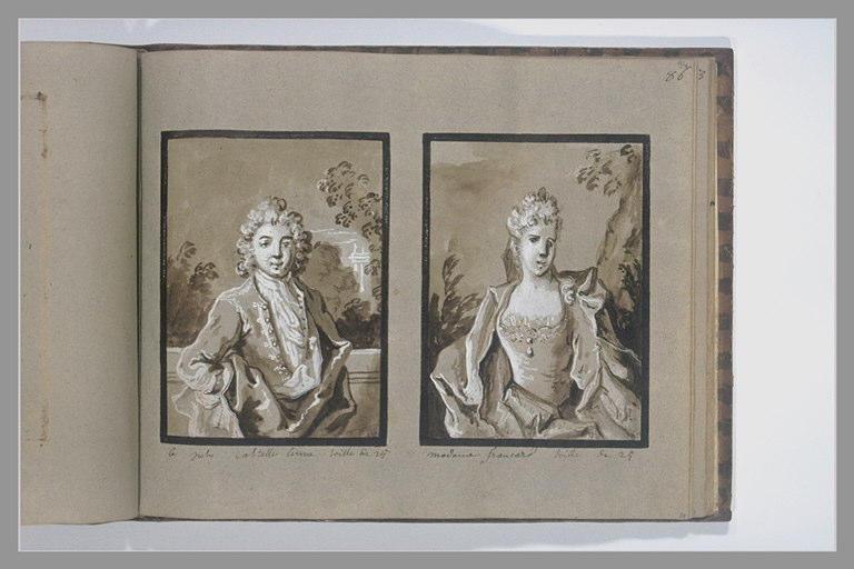 OUDRY Jean-Baptiste : Portrait de madame Francard