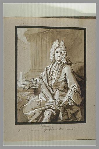 OUDRY Jean-Baptiste : Portrait du président Hénault