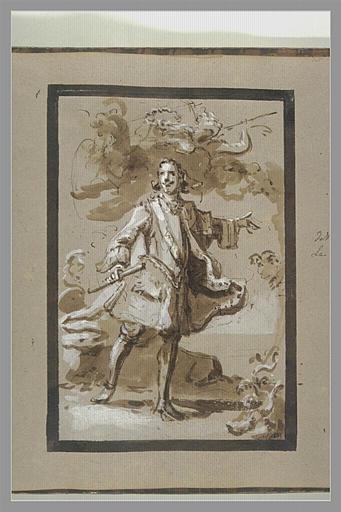 OUDRY Jean-Baptiste : Portrait du Tsar Pierre Ier