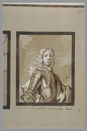 OUDRY Jean-Baptiste : Portrait de monsieur de Pommerol, mousquetaire