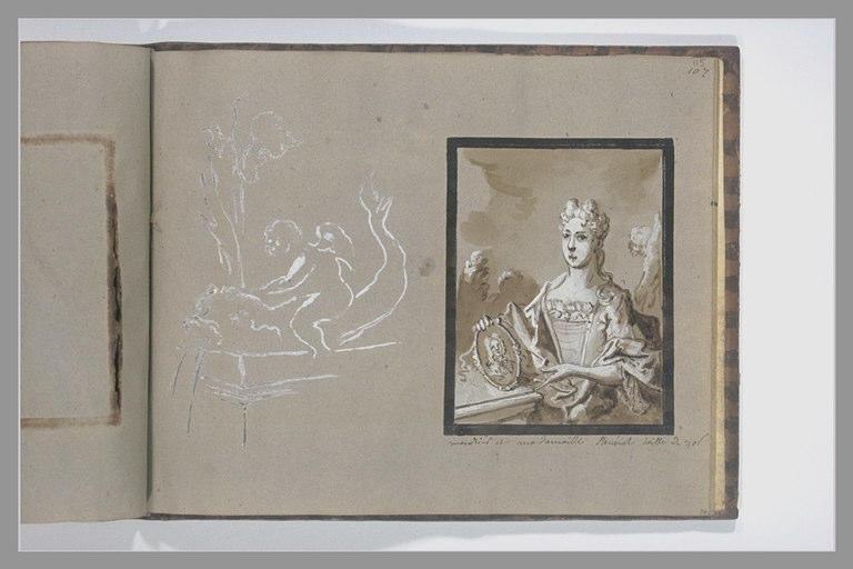 OUDRY Jean-Baptiste : Portrait de mademoiselle Stevenet