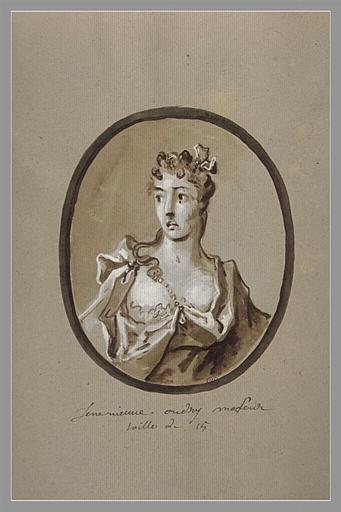 OUDRY Jean-Baptiste : Portrait de Geneviève Oudry, soeur de l'artiste