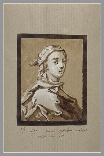 OUDRY Jean-Baptiste : Autoportrait
