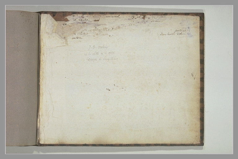 OUDRY Jean-Baptiste : Notes manuscrites