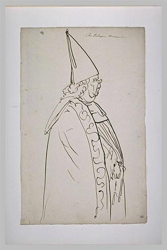 L'archevêque Menander, de profil vers la droite_0