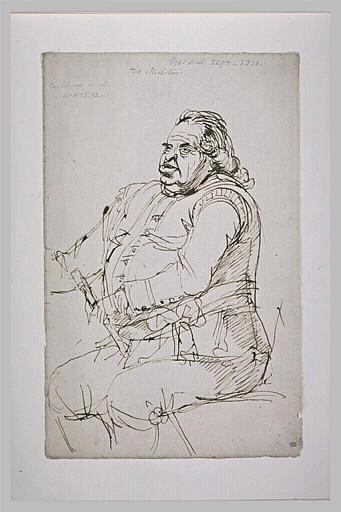 Portrait de Mr Mesterton, assis, de trois quarts vers la gauche