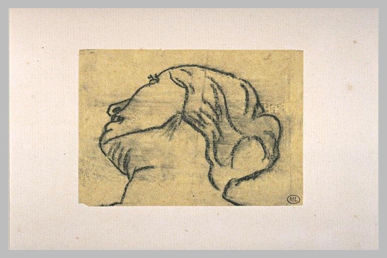 LEHMANN Henri : Tête de femme, vue d'en bas