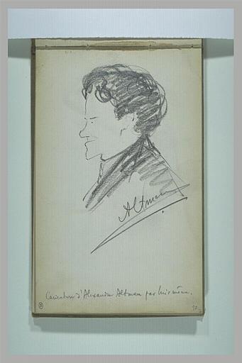 Homme vu en buste, de profil à gauche
