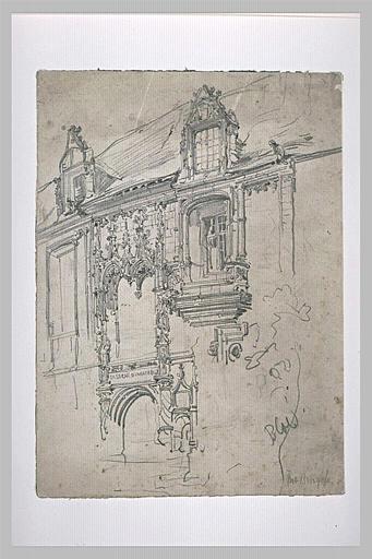 Façade d'une caserne d'infanterie à Blois