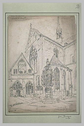 Vue partielle de la cathédrale de Münster